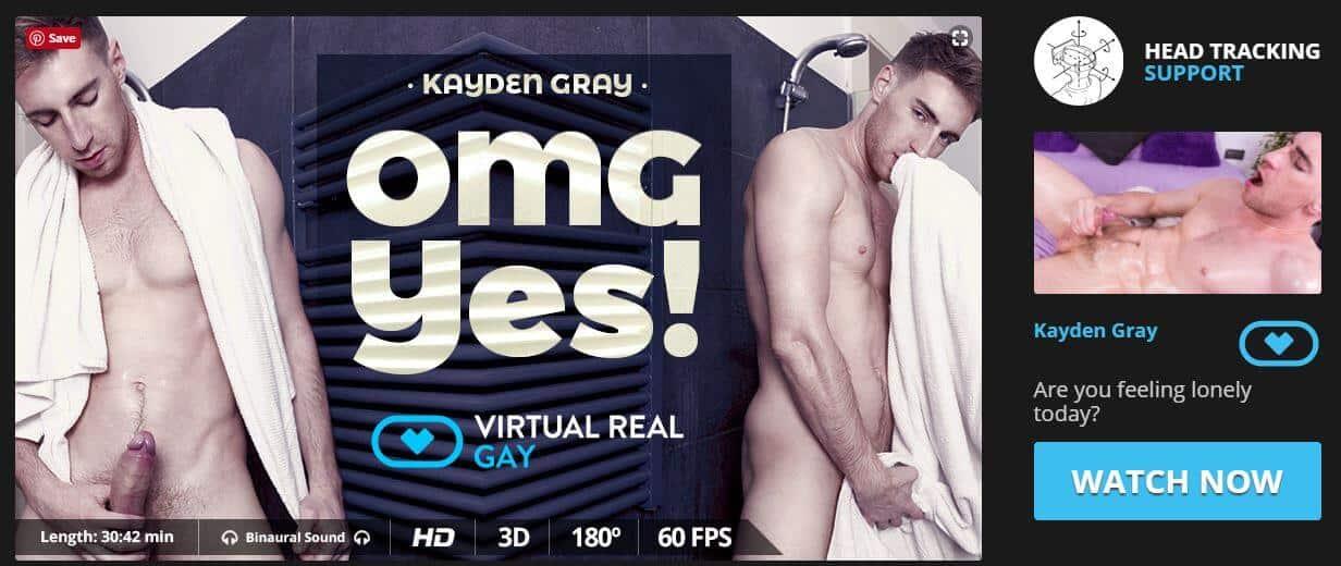 Virtuell-reale schwule Landing-Page-Videos