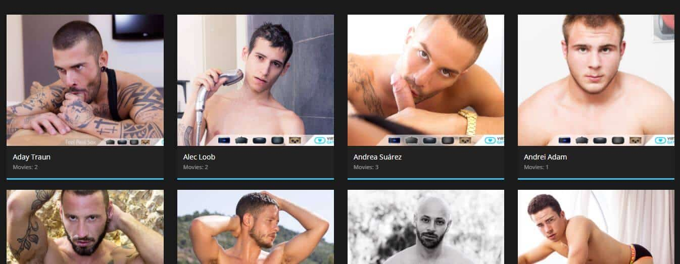 virtual real gay pornstar model list