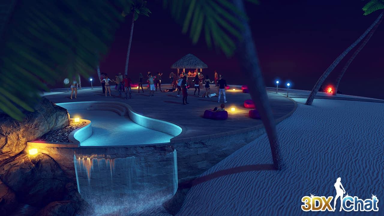 3dxchat beach environment