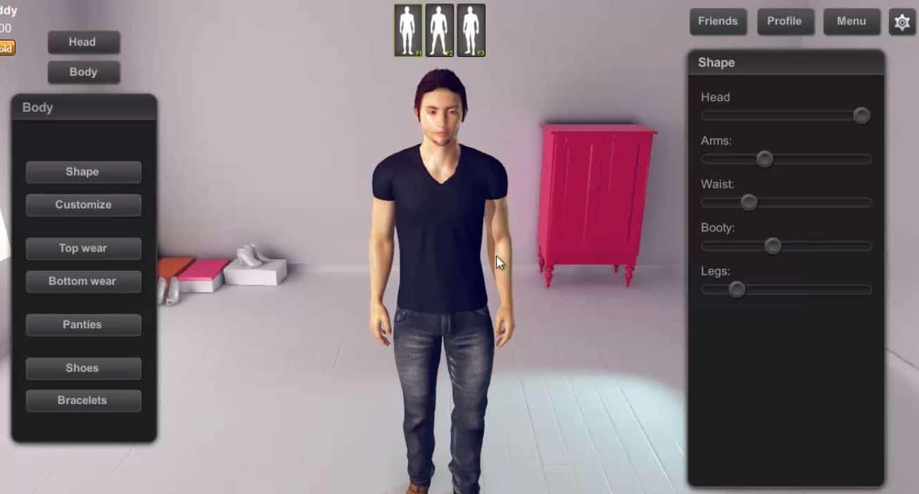 3dxchat avatar customisation