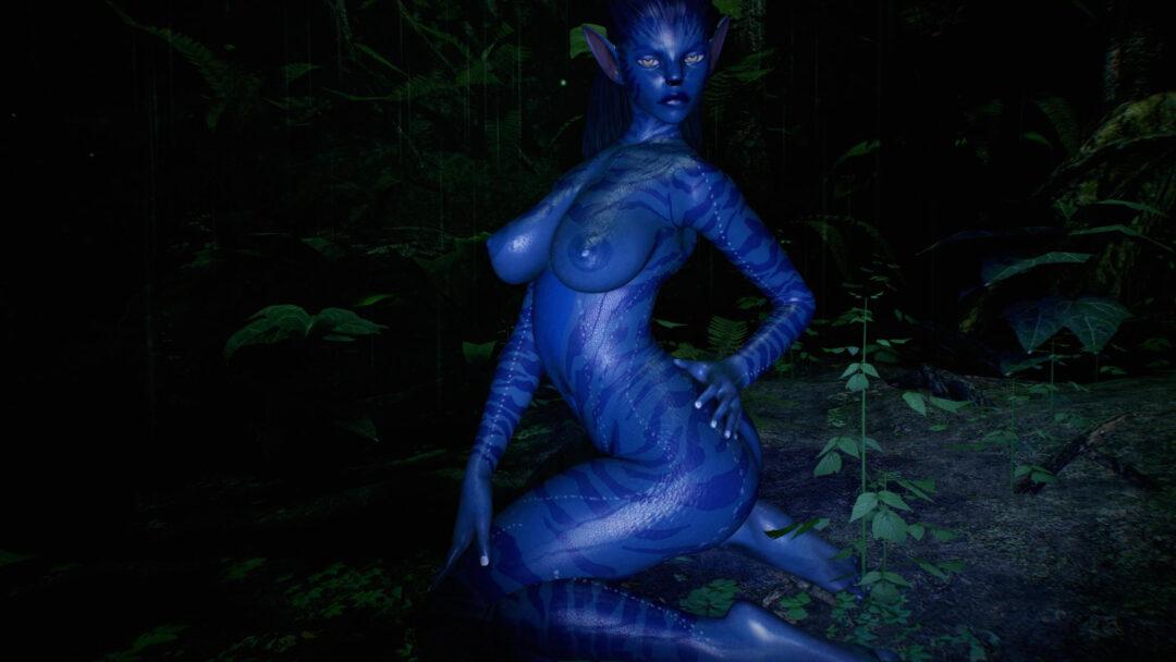 Virt-a-mate blue alien sex